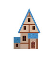 traditional old house with timber framing and blue vector image vector image