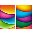 two bright abstract colorful backgrounds vector image