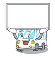 up board ambulance character cartoon style vector image