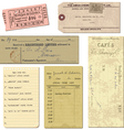Vintage paper ticket elements vector | Price: 1 Credit (USD $1)
