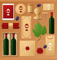 wine shop identity template mockup vector image vector image