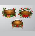 Wooden christmas board vector image