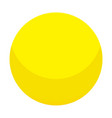 yellow candy ball icon isometric style vector image vector image