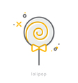 Thin line icons Lolipop vector image