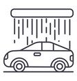 car wash line icon sign on vector image