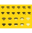 modern wifi icons set on yellow vector image