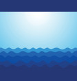 abstract blue waves ocean background vector image vector image