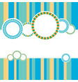 abstract color background with circles vector image vector image