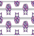 abstract girls seamless pattern cat vector image vector image
