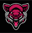angry wild boar head mascot vector image vector image