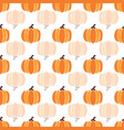 autumn orange pumpkins reflected on white vector image