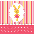 Background with rabbit girl vector image vector image