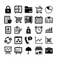 banking and finance line icons 9 vector image vector image
