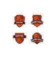 basketball championship logo emblem designs vector image