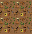 beautiful hand drawn set of wild west vector image