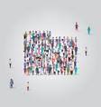 big people group standing together in folder vector image vector image