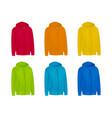 blank color mens hoodie sweatshirt long sleeve vector image vector image