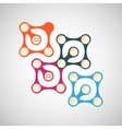bright abstract shapes on a white background vector image vector image