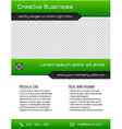 Business multipurpose flyer template - green vector image vector image