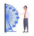 businessman wearing digital glasses business man vector image vector image