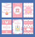 cards with funny for kids little vector image
