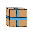 carton container cardboard box pack closed package vector image