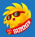 cartoon sun in summer vector image