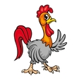 Cartoon young rooster vector image
