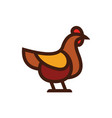 chicken icon linear flat style vector image