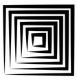 concentric squares w dynamic irregular line vector image vector image