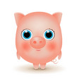 cute cartoon little pig the year of the pig vector image