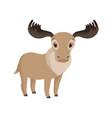 cute deer animal cartoon character vector image