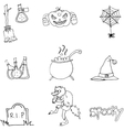 Element Halloween and monster in doodle vector image vector image