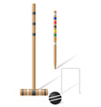equipment for croquet vector image vector image