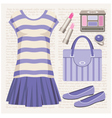 Fashion set with a top and a skirt vector image vector image