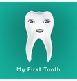 First tooth vector image vector image
