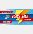 flash sale banner lightning sales poster fast vector image vector image