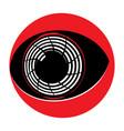 flat cyborg eyeball vector image