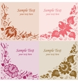 flowers on a beige background vector image vector image
