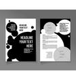Flyer template Business brochure vector image vector image
