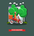 food delivery in flat style vector image vector image