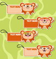 Four cute cartoon Monkeys stickers vector image vector image