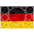 Germany soccer balls vector image
