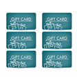 Gift card with a gift box Realistic gift card with vector image vector image