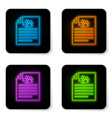 glowing neon medical certificate for travel with vector image vector image