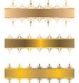 gold vintage border vector image