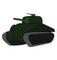 green tank on white background vector image vector image