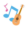 guitar notes music vector image vector image