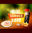 hawaiian summer sale poster vector image