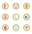 human organs icon set cartoon style vector image vector image